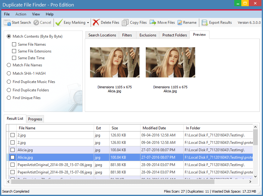 Duplicate File Finder Screen Shot