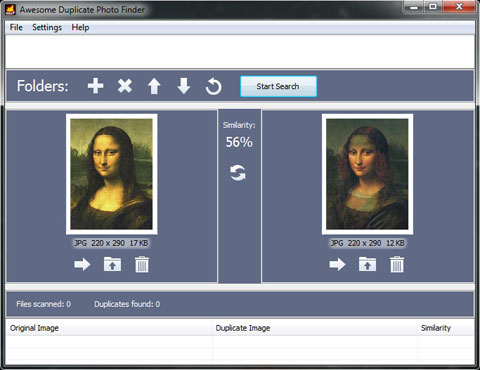 Awesome Duplicate Photo Finder- Screen Shot
